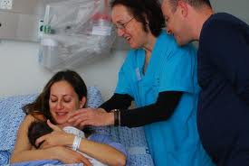 midwife in hospital