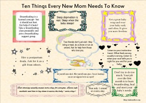 10 things every new mom needs to know