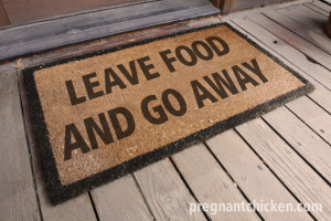 leave food door mat