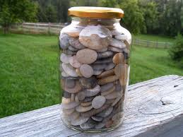 jar with pebbles