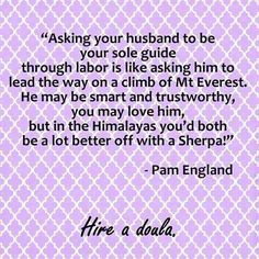 pam england quote on doulas